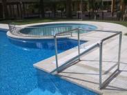 barandilla de acero inoxidable piscina