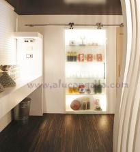 cristal para estantería baño