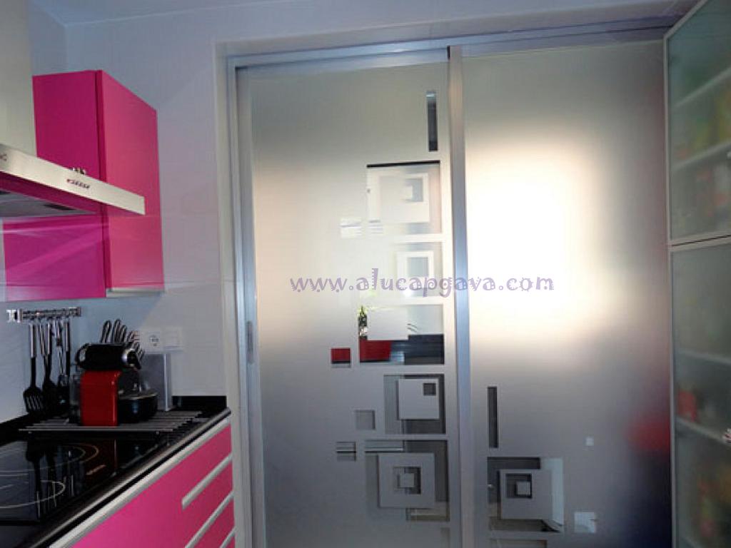 De Cristal Para Cocinas Perfect Perfect Puertas Correderas De  ~ Cristales Decorados Para Cocinas