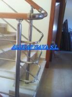 Barandilla de aluminio inox