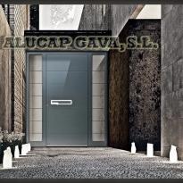Puerta aluminio de diseño