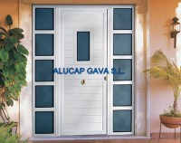 cancela puerta de aluminio