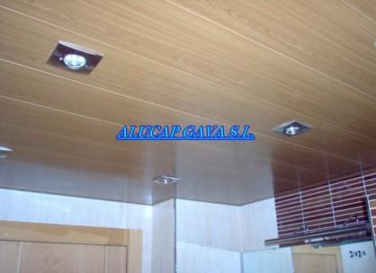 techo de aluminio imitacion madera