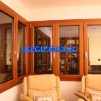 ventanas de alumino color madera