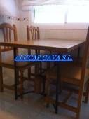 Mesa de hierro con madera