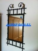 Espejo de hierro en color negro